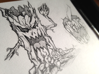 Nightmare tree sketch