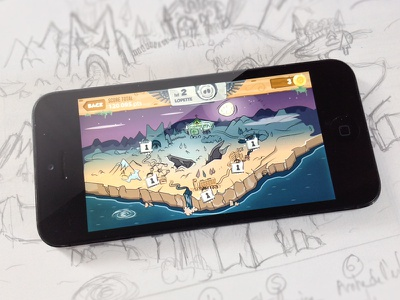 Zombeat - Main Map smartphone video map fun market android iphone apple menu game zombie