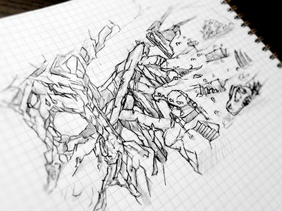 ZOMBEAT Game - Map sketch mole monster hell draw mobile android ios zombeat zombie sketch game art
