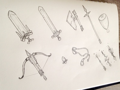 New game project google apple knight bow knife axe android ios game epic draw sword