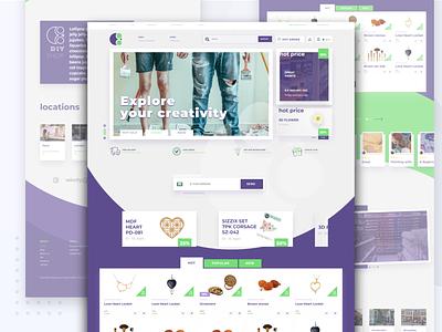 DIY materials web shop onlineshop ecommerce webshop diy 2020 adobe xd ui neehad webdesign