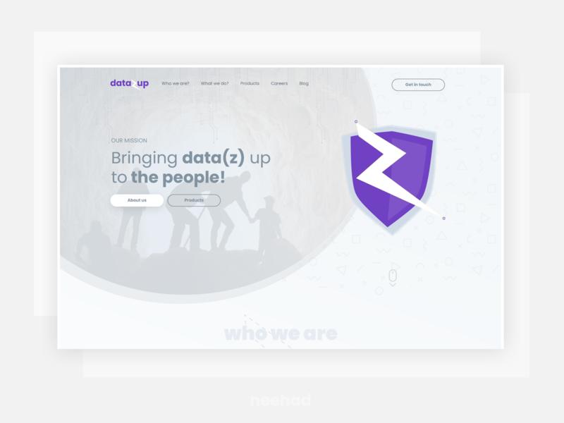 DataZup - Bringing data(z) up to the people webdesign neehad affinity landing web ui design web ui web datazup