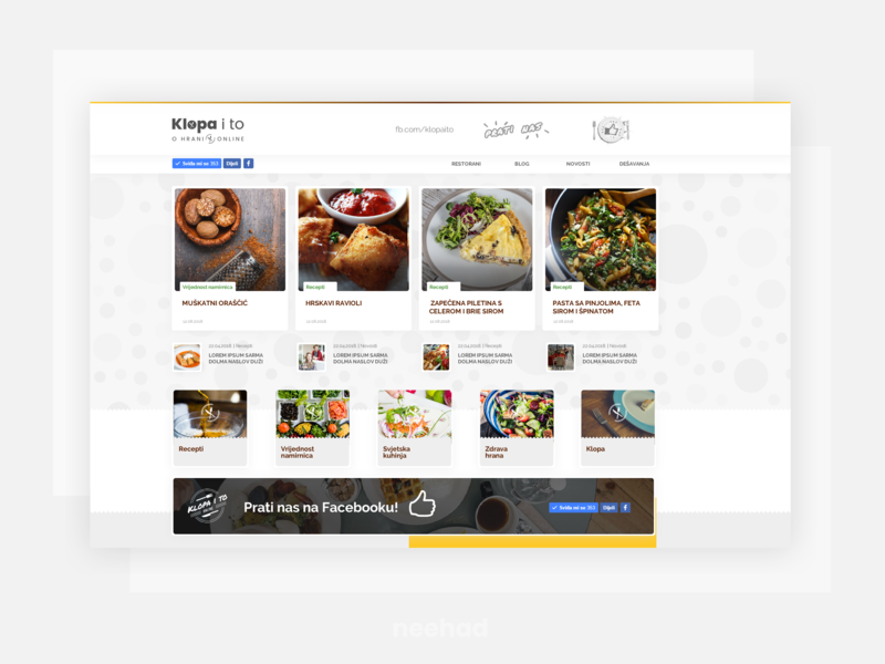 Klopaito - Food Magazine datazup food blog food ui webdesign web klopaito