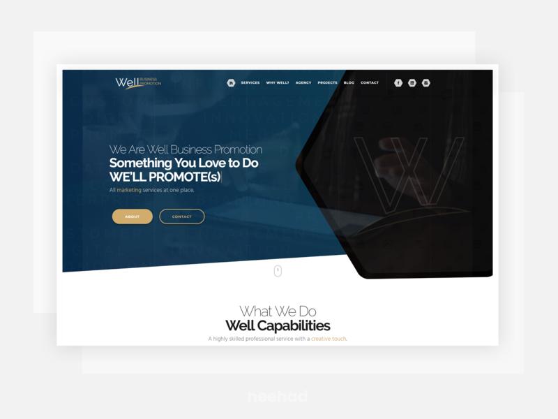 WBP - Concept neehad 2017 webdesign web