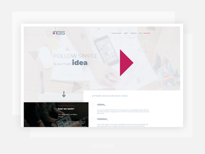 NGS - SOFTWARE, BECAUSE WE ENJOY CODING webdesign modx 2018 web design ui  ux design website web neehad ngs