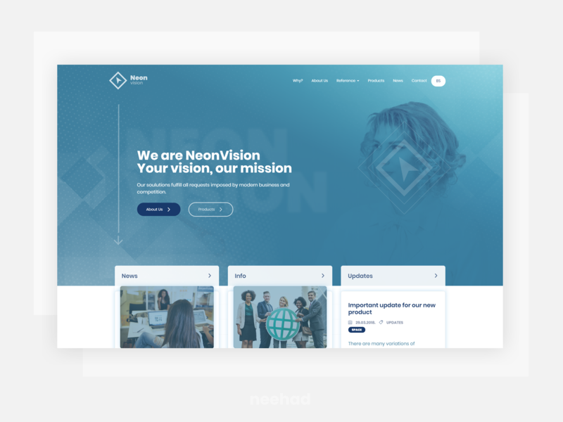 NeonVision - Corporate web concept webdesign ui concept concept ui web neehad