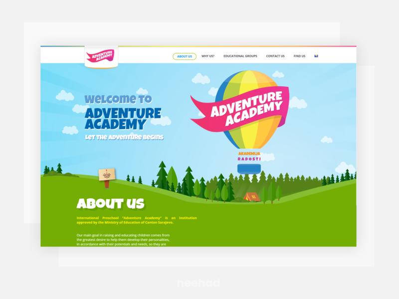 Adventure Academy - Preschool webdesign well website illustration web ui ui web design neehad
