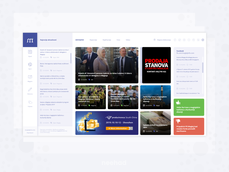 News magazine concept webdesign adobe xd ui web ui neehad concept maglajinfo.com