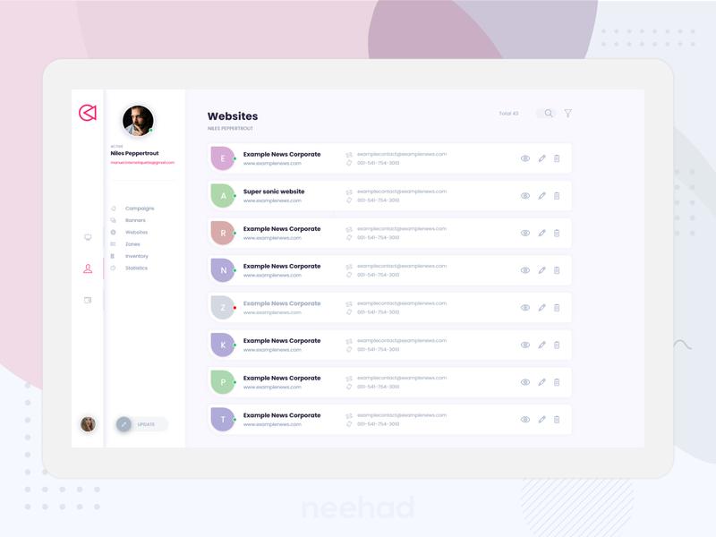 Website directory UI webdesign 2019 adobexd uiux ui neehad