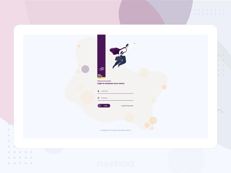 Skill heroes - web application login webdesign skills skill ux ui 2019 adobe xd neehad