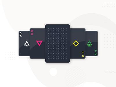 Playing Cards - dark geometric playing card dark geometric neehad dribbbleweeklywarmup