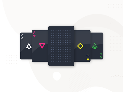 Playing Cards - dark geometric