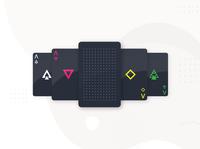 Playing Cards - dark geometric