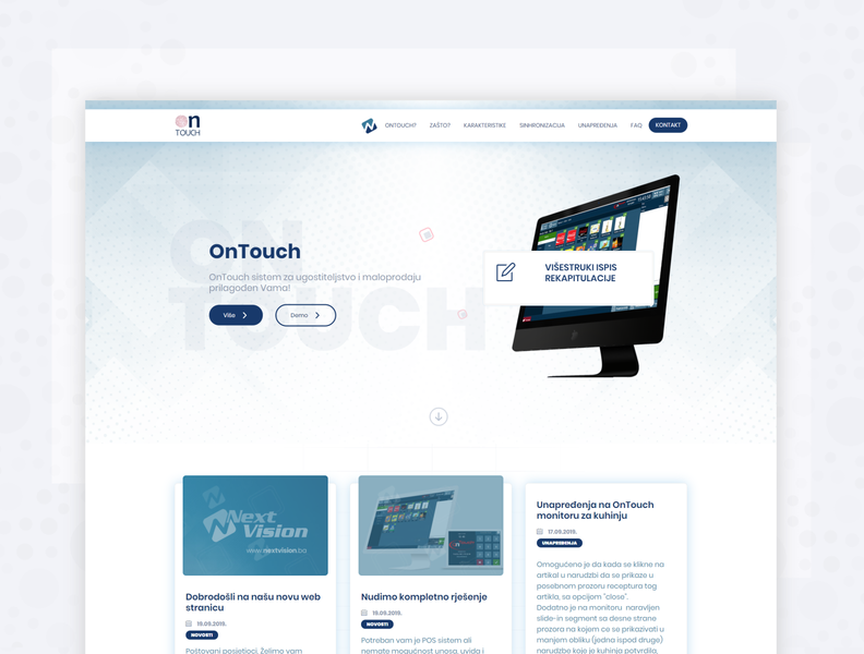 Product landing page - onTouch webdesign affinitydesigner uidesign ui 2018 neehad