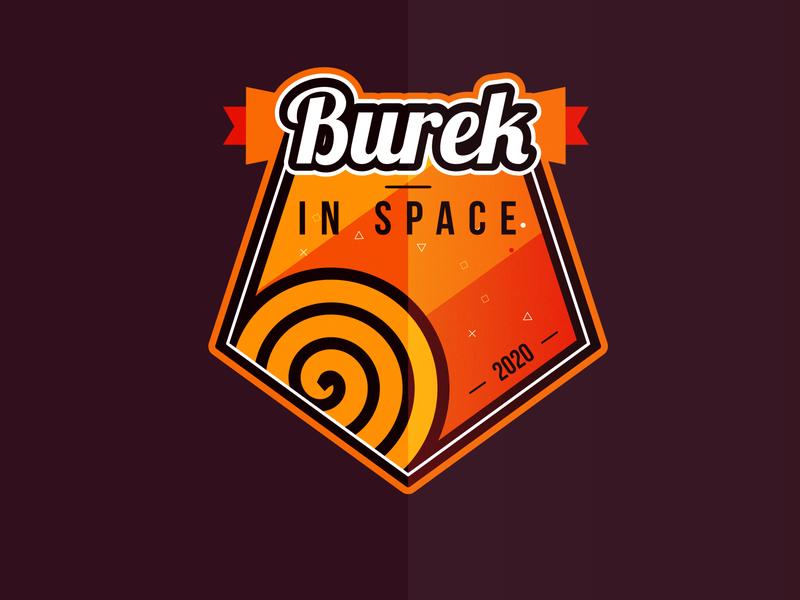 BUREK IN SPACE - BUREK U SVEMIRU - 2020 SPACE PATCH neehad dribbbleweeklywarmup patch burek u svemiru burek