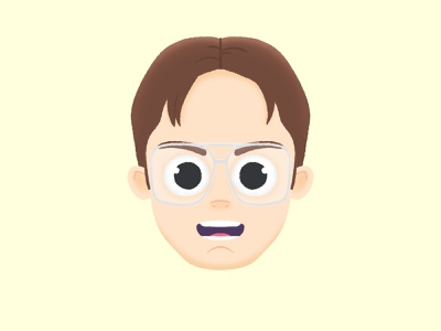 Identity theft dwight schrute the office motion animation portrait character photoshop design illustration