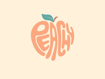 Peachy flat illustrator fruit peach design illustration