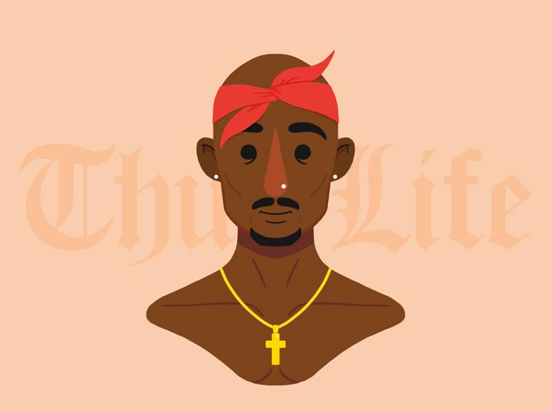 Tupac makaveli 2pac tupac character portrait photoshop design illustration