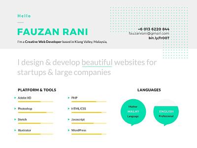 Resume Fauzanrani 2018 resume design modern resume a4 clean resume cv resume design