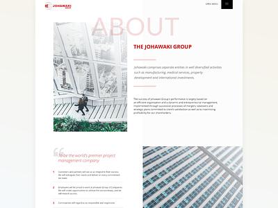 Johawaki   About interface design website ux ui uidesign minimal corporate website adobe xd