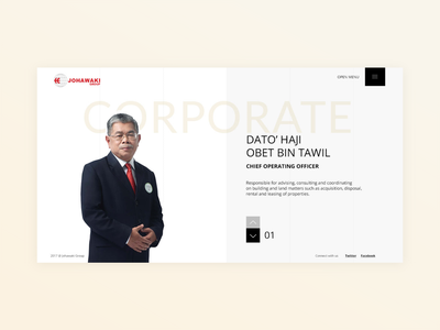 Johawaki   Corporate website minimal interface design corporate website uidesign ux ui adobe xd
