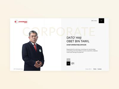 Johawaki   Corporate website minimal interface design corporate website uidesign ux ui adobe xd