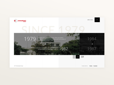 Johawaki   History history timeline website corporate website uidesign minimal ux ui adobe xd