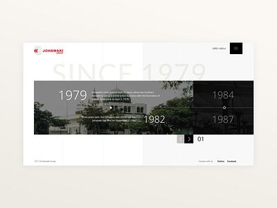 Johawaki   History history timeline website corporate website uidesign minimal ux ui adobe xd