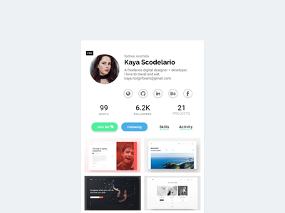 006 User Profile user profile 100 daily ui ux ui minimal design uidesign adobe xd