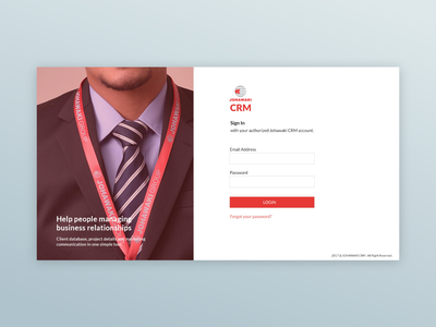 Johawaki Crm   Sign In sign up crm ux ux ui minimal design uidesign adobe xd
