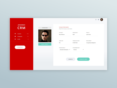 Johawaki Crm   User Profile user profile ux website ux ui minimal design uidesign adobe xd