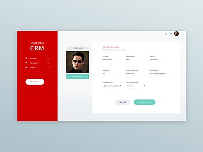 Johawaki Crm   User Profile user profile ux website ux ui minimal design uidesign adobe xd
