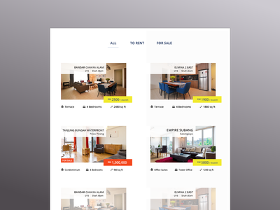 Property Listings listings property website ux ui minimal design uidesign adobe photoshop cc