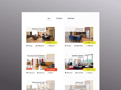 Property Listings listings property website ux ui minimal design uidesign adobe photoshop cc