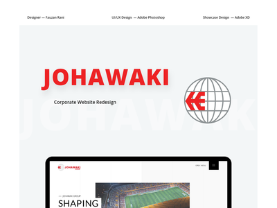 Johawaki  Project Cover corporate website website design adobe xd ux ui uidesign minimal