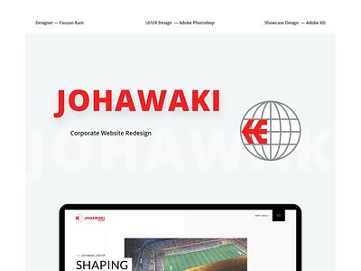 Johawaki  Project Cover corporate website website design adobe xd ux ui uidesign minimal