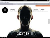 iPad Optimized Portfolio Site