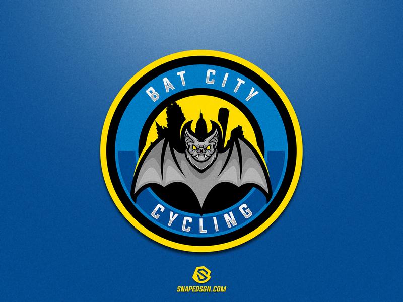 Bat City Cycling sports illustration design branding logotype sport esport gaming identity logo mascot