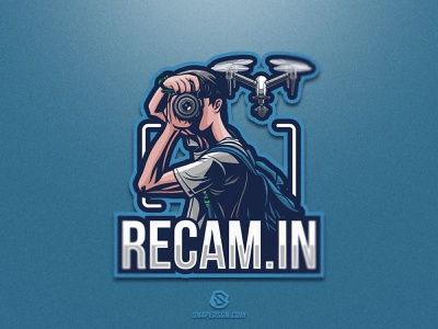 Recam In sports illustration design branding logotype sport esport gaming identity logo mascot