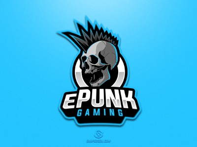 ePunk Gaming twitch sports illustration design branding logotype sport esport gaming identity logo mascot