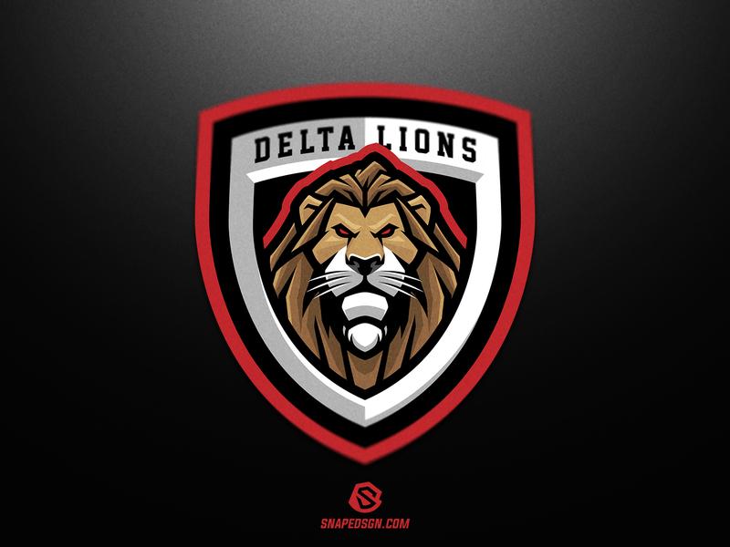 Delta Lions sports illustration design branding logotype sport esport gaming identity logo mascot