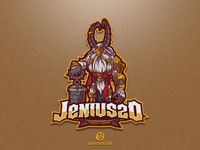 Jenius20 twitch sports illustration design branding logotype sport esport gaming identity logo mascot
