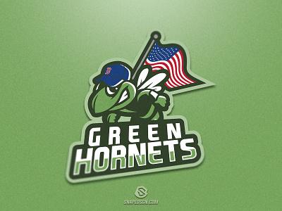 Green Hornets twitch sports illustration design branding logotype sport esport gaming identity logo mascot