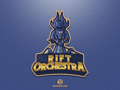 Rift Orchestra sports illustration design branding logotype sport esport gaming identity logo mascot