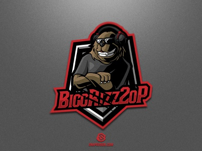 BiggRizz2oP sports illustration design branding logotype sport esport gaming identity logo mascot