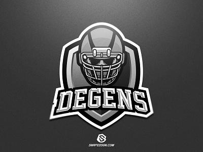 DEGENS twitch sports illustration design branding logotype sport esport gaming identity logo mascot