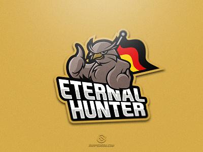 Eternal Hunter sports illustration design branding logotype sport esport gaming identity logo mascot