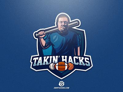 Takin' Hacks illustration design branding vector logotype sport esport gaming identity logo mascot