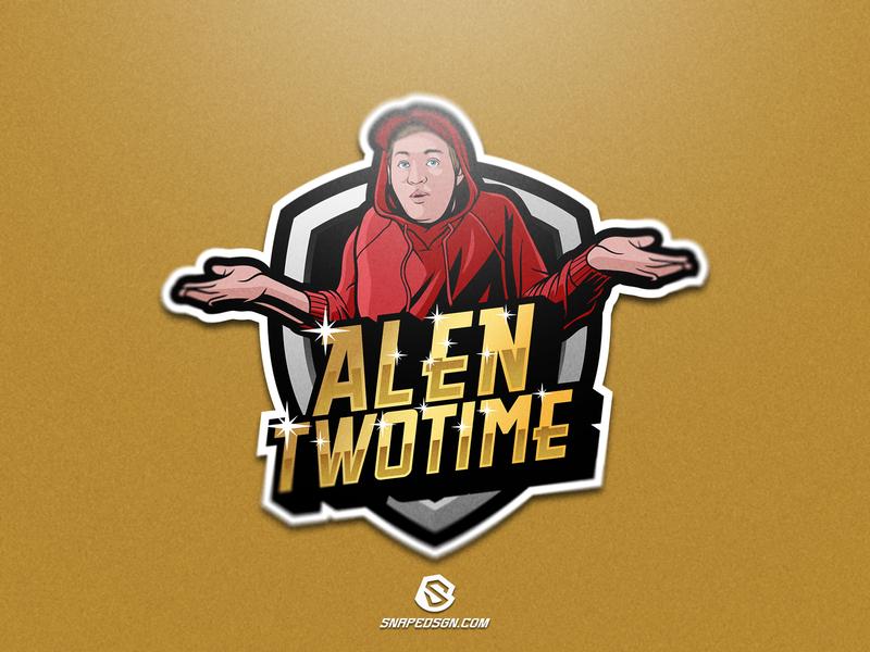 Alen Twotime twitch sports illustration design branding logotype sport esport gaming identity logo mascot