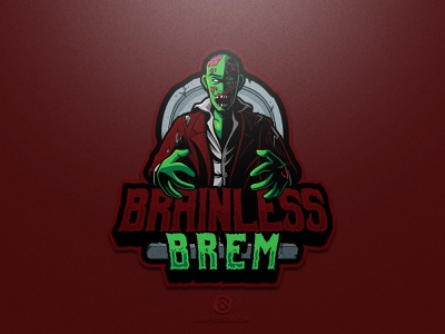 Brainless Brem illustration design logotype sport esport gaming identity logo mascot